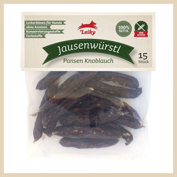 Jausenwürstl Pansen Knoblauch, 15 Stück