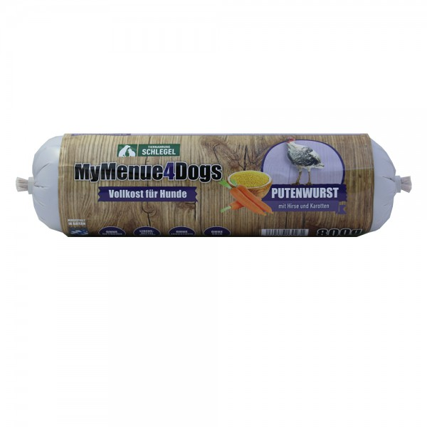 MyMenue4Dogs Hundewurst Pute, 800g