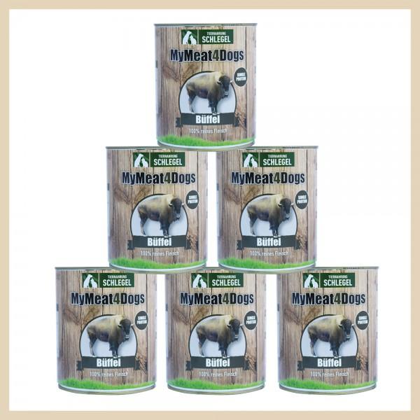 MyMeat4Dogs 6 x Büffel